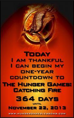 Catching Fire Movie - One Year Countdown  HHHHUUUUNNNNGGGGERRRRR  GGGGGGGGAAAAAAAAMMMMMMEEEEESSSSSSSSSSSSSSSSSSSSSSSSSSSSSSSSSSSSSS
