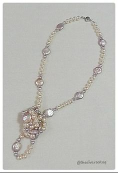 The Princess Necklace. A pretty mix of freshwater pearls and swarovski pearls. A versatile piece - you can wear it long, knot one end into a pendant or double it up as a choker.