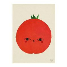 Give the wall a true color of splash! The cute Tomato poster from Fine Little Day has wonderful illustration with a red, sweet tomato that is easy to fall in love with. It becomes really nice in the children´s room but may as well be hanged in the living room or kitchen. Combine with other fruity posters from Fine Little Day.