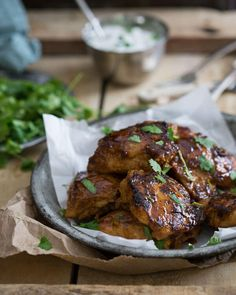 Sweet and Spicy Indian Chicken @runtothekitchen