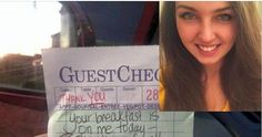 A Waitress Wrote On A Receipt. But When She Checked Her Facebook Later, She Almost Fainted.