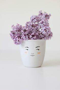 lilacs in a mug. Mug by @Michelle Christensen of My Little Belleville.