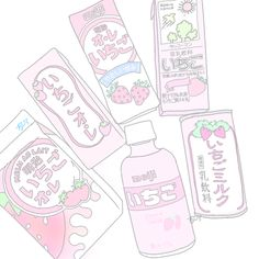 🍓🥛(*'ω'*)飲みてえ Kawaii Doodles, Kawaii Art, Bullet Journal Books, Book Journal, Aesthetic Backgrounds, Aesthetic Wallpapers, Pretty Art, Cute Art, Zoo Wee Mama