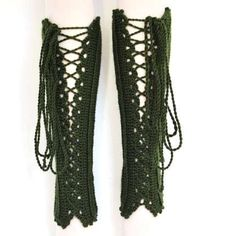 Inspiration Only - Limb-Crocheted Corsets: Colorful and Warm Handmade Lace-Up Leg Warmers