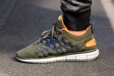 "Nike Free OG 14 Woven ""Olive & Bright Citrus"""