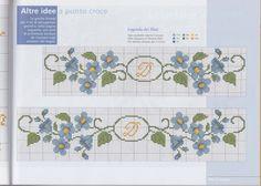 Cross Stitch Borders, Cross Stitch Flowers, Cross Stitch Designs, Cross Stitch Patterns, Cross Stitch Embroidery, Needlepoint, Needlework, Crafty, Crochet