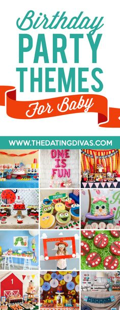 Birthday Party Themes and Ideas - from The Dating Divas Birthday Party Planner, 1st Birthday Party Themes, Kids Party Themes, Girl Birthday, Party Ideas, Theme Ideas, Fun Ideas, Birthday Ideas, Traditions D'anniversaire