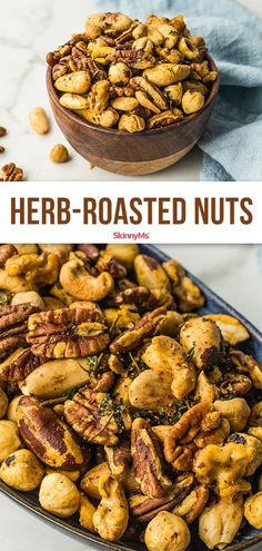 We love quick and easy snacks like this recipe for herb-roasted nuts! They& a healthy snack that fills you up without weighing you down. Healthy Snacks To Make, Healthy Snacks For Diabetics, Easy Snacks, Clean Eating Snacks, Food To Make, Snacks Ideas, Stay Healthy, Eating Healthy, Healthy Living