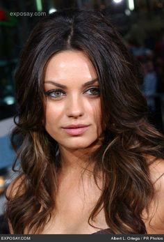 highlights for brown hair   Caramel Highlights : Mila Kunis Dark Brown Highlights. She so fabolous ...