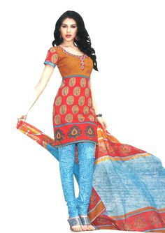 #Cotton dress materials only for 799/-  Buy here: http://www.ethnicqueen.com/