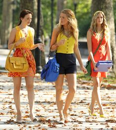 Blair and Serena. Gossip Girl. Blake Lively. Leighton Meester.