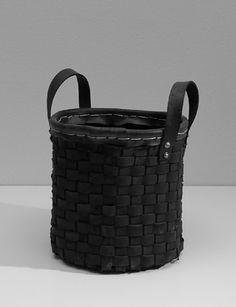 cesto in coppertone intrecciato. cm.29xh.31