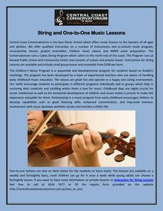 Central Coast Conservatorium classes are great fun and operate in a happy and caring environment. Our staffs encourage students to participate in different programs individually and in groups which help in nurturing their creativity and instilling within them a love for music. Contact at: 02-43247477.