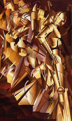 C3PO Descending a Staircase, a la Duchamp - bahahaha this gave me the idea of getting students to have their favourite character descending a staircase - yr 9-10