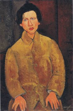 "Amedeo Modigliani ""Portrait of Haim Soutine"" oil, canvas, 100x65 sm, 1916, collection Netter."