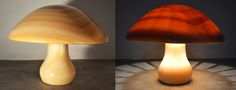 The Fossilised Mushroom designed by Eleftherios Ambatzis. Lamp made in Onyx marble.  Dimensions: 65/65/50 cm Onyx Marble, French Toast, Stuffed Mushrooms, Objects, Lighting, Design, Home Decor, Stuff Mushrooms, Decoration Home