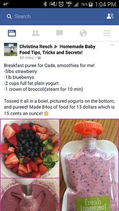 Fruit n broccoli puree/smoothie