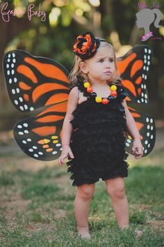Child Butterfly Costume Girls Insect Moth Bug Kids Forest Fancy Dress Outfit
