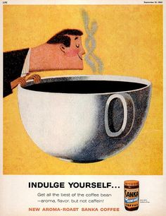 Designersgotoheaven.com - This is me every morning: 1960 Life magazine ad illustrated by John Falter.  (Vialeifpeng)