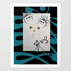 Classic BlackWidow .. Art Print by Twisted PinUps - $17.68