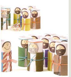 broers van Jozef | paper-towel tubes [toilet rolls] puppets