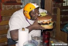 ...as long as he had on his helmet, there was no burger too big for Edmond.  The End