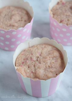 Strawberry Mug Cake (low carb and gluten free) can be made in a mug or a paper baking cup, in the microwave or in the oven