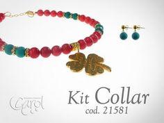 Kit 21581 Kit collar fosil trebol dorado
