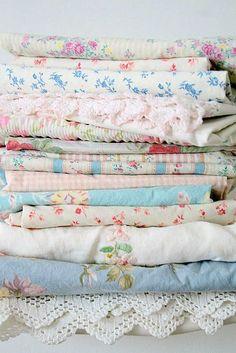 textile : linge de lit vintage