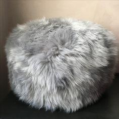 Super soft sheepskin pouffe