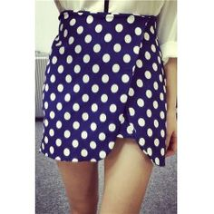 Stylish High-Waisted Polka Dot Asymmetrical Women's Skirt