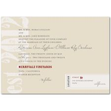 Vintner Label  Vintage Wedding Invitations