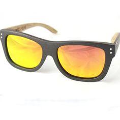 Wood Fellas Jimbaran Sonnenbrille Braun Orange, Holzsonnenbrille