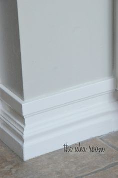 "Easy trick for taking your baseboards from ""small to tall."" #DIY"