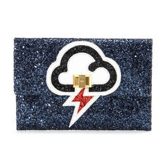 Anya Hindmarch - Valorie embellished clutch - You'll never have to worry about the weather as long as you have Anya Hindmarch's dazzling 'Valorie' clutch' by your side. Take this fun clutch out for a night on the town with your favourite little black dress. seen @ www.mytheresa.com