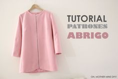 DIY Patrones Abrigo de Mujer (Tutorial paso a paso)