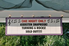 Rockstar Birthday Party-- banner for over the cake table, maybe hang on sliding glass door