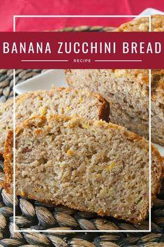 Banana zucchini bread is a delicious combination of banana bread and zucchini bread. An easy quick bread recipe that will become your new favorite! Tasty Bread Recipe, Healthy Bread Recipes, Zucchini Bread Recipes, Spring Recipes, Easter Recipes, Banana Zuchini Bread, Cream Cheese Bread, Sweet Roll Recipe, Delicious Desserts