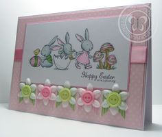 Stampin with Paula - I have this set and have to learn to think outside the box...all the bunnies in a scene - so cute.