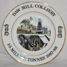 "Daw Mill Colliery - 1.5 Million Tonnes 1987-88, Miners 10.5"" Bone China Plate"