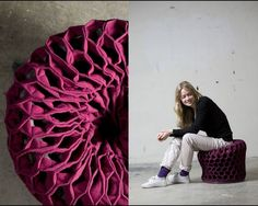 ... form of this pouf designed by SHE design studio based in Oslo, Norway.