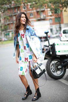 Street Style, Milan: Italian It girls Chiara Ferragni, Candela Novembre and Chiara Totire outside Spring fashion week.    #womansfashion #wholesaleclothingfactory #womanclothing