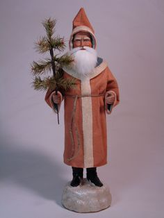handmade by Paul Turner-German Santa- paper mache candy container Truly fabulous Santas...