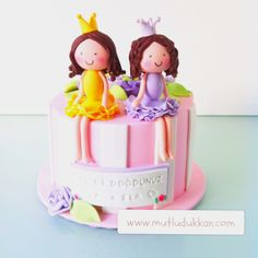 Birthday cake for 2 little friends - www.mutludukkan.com