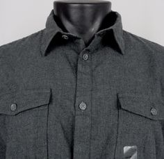NWT Calvin Klein Shirt Men's Large Flannel Heather Gray Button Up LS Lightweight #CalvinKlein #ButtonFront