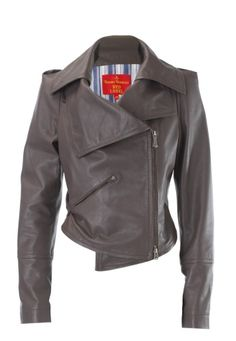 Leather Jacket  via: http://www.viviennewestwood.co.uk/shop/womenswear/coats-jackets/leather-jacket-13206/