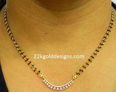 Black Diamonds Nallapusalu Chain with Price Diamond Mangalsutra, Gold Mangalsutra Designs, Gold Ring Designs, Gold Jewellery Design, Black Diamond Chain, Black Diamonds, Black Jewelry, Gold Jewelry, Antique Jewelry