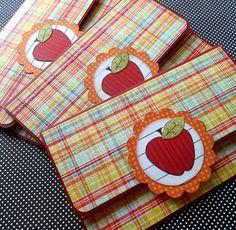 Teacher Appreciation Gift Card Holder - Plaid Apple