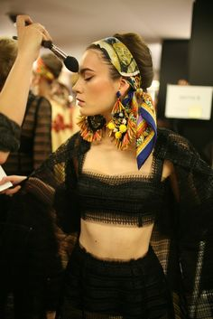 Backstage at Dolce & Gabbana RTW Spring 2013