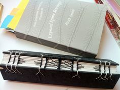 experimental exposed spine bookbindng by Amanda Watson-Will - Practising for a photo album. More on my blog amandawatson-will.blogspot.com